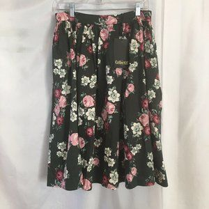 Collectif Jasmine Vintage Bloom Floral Swing Skirt